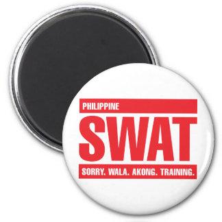 GOLPE VIOLENTO filipino - tagalogo - rojo Imán Para Frigorífico