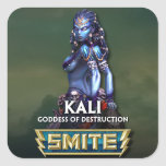 GOLPE VIOLENTO: Kali, diosa de la destrucción Calcomanía Cuadradas Personalizada