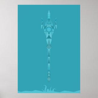 GOLPE VIOLENTO - Poseidon - dios de los océanos Posters