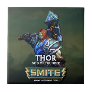 GOLPE VIOLENTO: Thor, dios del trueno Azulejo Cuadrado Pequeño