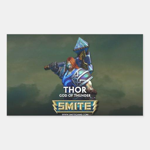 GOLPE VIOLENTO: Thor, dios del trueno Pegatina Rectangular