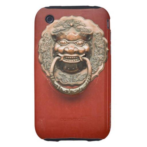 Golpeador de puerta del dragón iPhone 3 tough funda