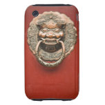 Golpeador de puerta del dragón tough iPhone 3 cárcasa