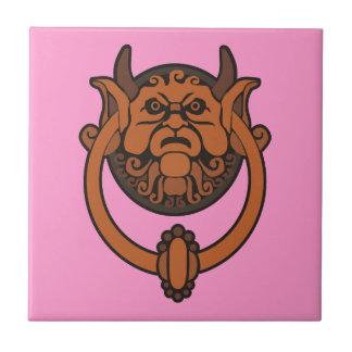 Golpeador de puerta del Goblin Azulejo Cuadrado Pequeño