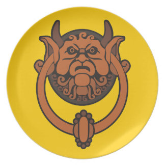 Golpeador de puerta del Goblin Platos
