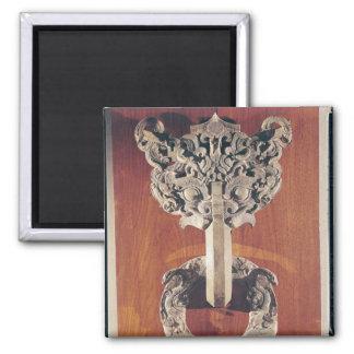 Golpeador de puerta del shou de P'u con un diseño  Imán De Nevera