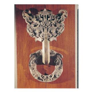 Golpeador de puerta del shou de P'u con un diseño Postales