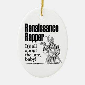 Golpeador del renacimiento - está todo sobre el adorno ovalado de cerámica