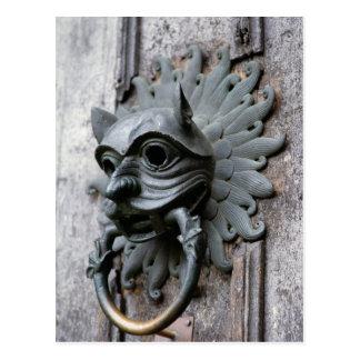 Golpeador del santuario de la catedral de Durham Tarjetas Postales