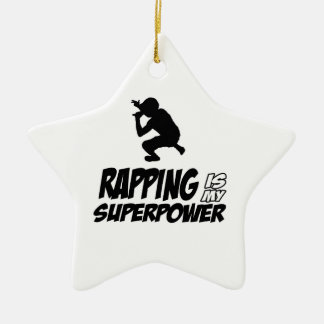 Golpear diseños del hip-hop adorno navideño de cerámica en forma de estrella