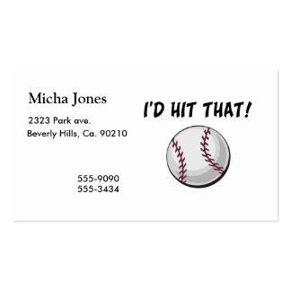 Golpearía ese béisbol tarjetas de visita