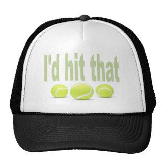 Golpearía ese tenis gorras