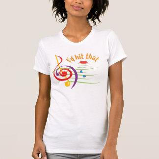 Golpearía eso (para los sopranos) camiseta