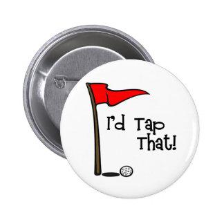 Golpearía ligeramente que - golf pin redondo de 2 pulgadas