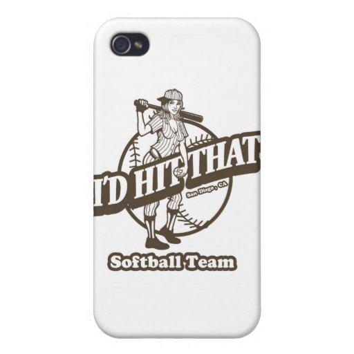 Golpearía que equipo del softball iPhone 4/4S carcasa
