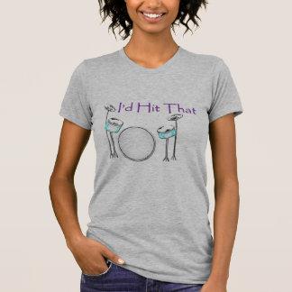 Golpearía que gráfico determinado del tambor púrpu camisetas