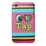 Golpecito brillante del amor del corazón I del ojo Case-Mate iPhone 3 Cárcasas