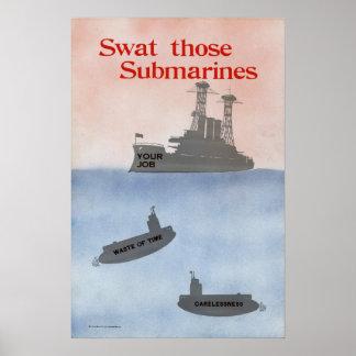 Golpee con fuerza esos submarinos impresiones
