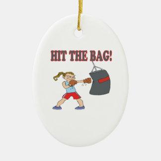 Golpee el bolso adornos de navidad