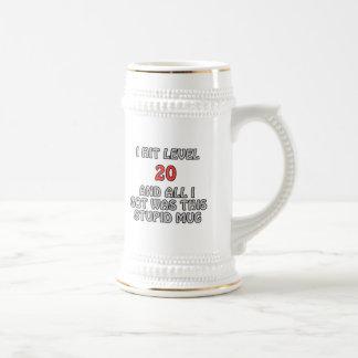 Golpeé el nivel 20 y todos lo que conseguí… tazas de café