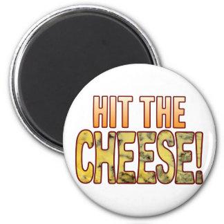 Golpee el queso verde imán redondo 5 cm