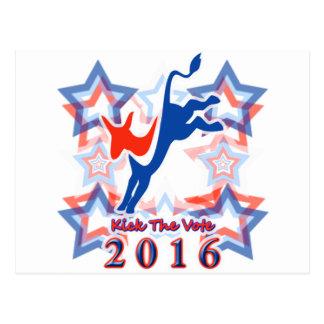 ¡Golpee el recordatorio 2016 del fiesta con el pie Postal