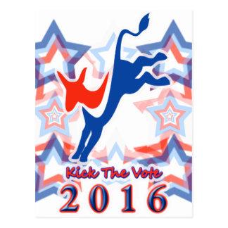 ¡Golpee el recordatorio 2016 del fiesta con el pie Tarjeta Postal