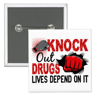 Golpee hacia fuera droga el puño de 2 varones pin cuadrado
