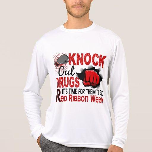 Golpee hacia fuera droga el puño masculino tee shirts