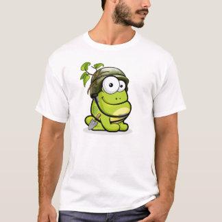 Golpee ligeramente la rana - camiseta de la rana
