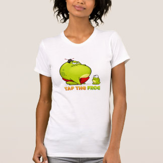 Golpee ligeramente la rana - camiseta del chica