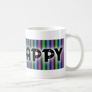 Golpee ligeramente la taza feliz