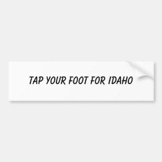 Golpee ligeramente su pie para Idaho Etiqueta De Parachoque