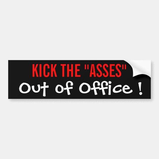 ¡Golpee los asnos con el pie fuera de oficina! Pegatina Para Auto