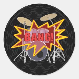¡Golpee sus tambores! Pegatinas Redondas