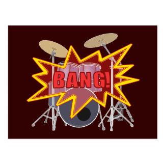 ¡Golpee sus tambores! Postal
