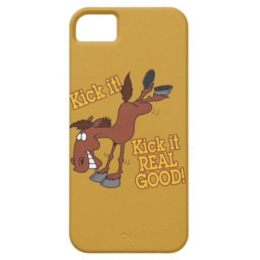 golpéelo con el pie buen caballo de retroceso con iPhone 5 Case-Mate coberturas
