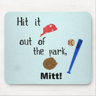 Golpéelo fuera del parque, mitón 2012 alfombrilla de ratón