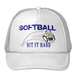 Golpéelo softball duro gorros bordados