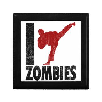 Golpeo a zombis con el pie caja de joyas