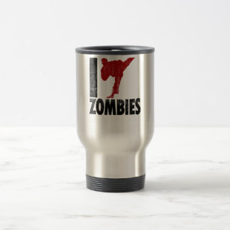 Golpeo a zombis con el pie taza de viaje