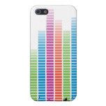 Golpes coloridos de la música en naturaleza iPhone 5 cárcasas