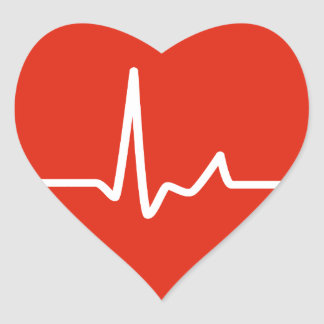 Golpes de corazón calcomanía corazón