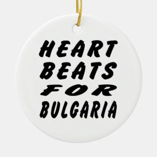 Golpes de corazón para Bulgaria Adorno Redondo De Cerámica