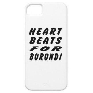 Golpes de corazón para Burundi iPhone 5 Case-Mate Protector