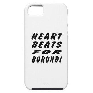 Golpes de corazón para Burundi iPhone 5 Coberturas