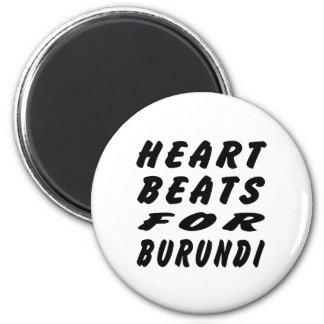 Golpes de corazón para Burundi Imán De Frigorífico