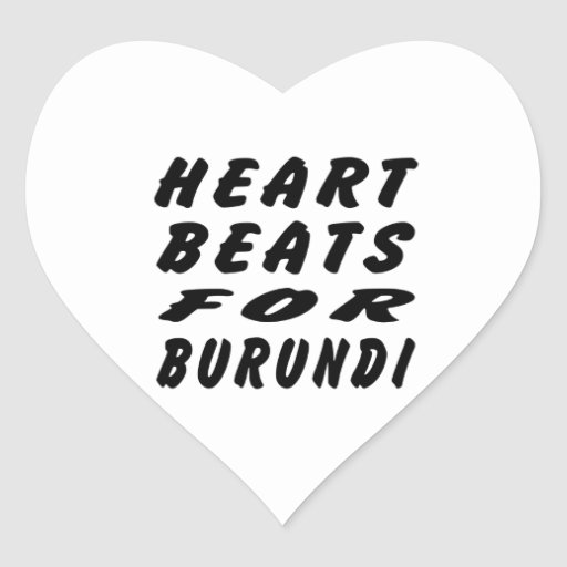 Golpes de corazón para Burundi Pegatina En Forma De Corazón