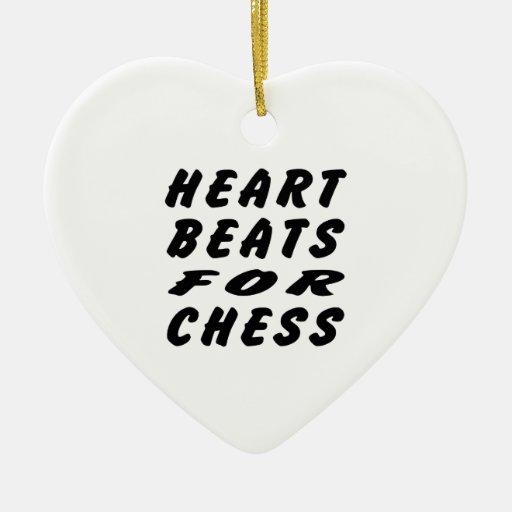 Golpes de corazón para el ajedrez ornamentos de reyes magos