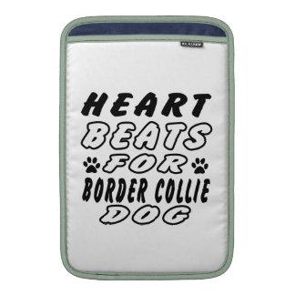 Golpes de corazón para el border collie fundas MacBook